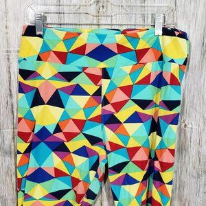 Lularoe TC Leggings Multicolor Geometric Triangles